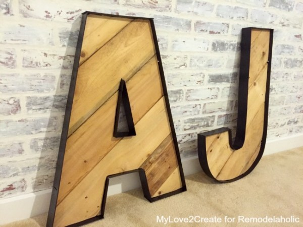 Large Rustic Industrial letters
