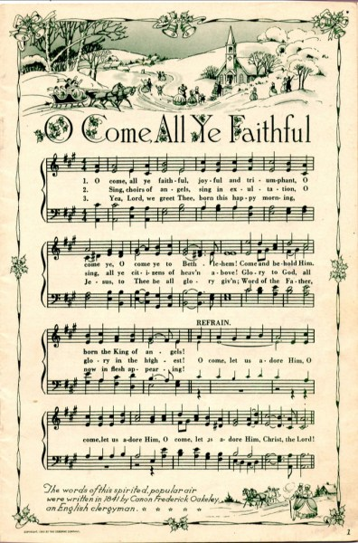 free printable vintage christmas sheet music
