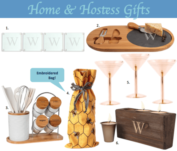Great ideas for hostess or housewarming or holiday home gifts
