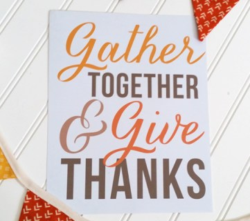 Gather Together and Give Thanks Art Print @Remodelaholic