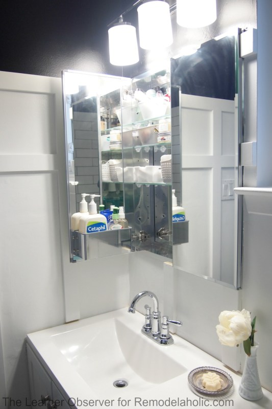 The Learner Observer for Remodelaholic.com - Built-in medicine cabinet