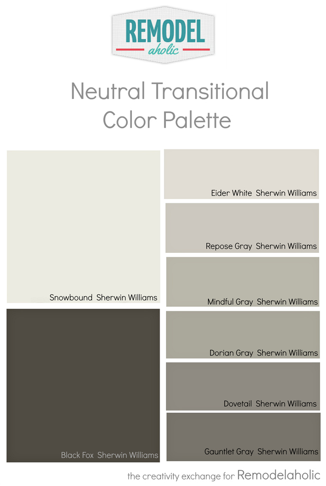 remodelaholic whole house paint color palette using one undertone. Black Bedroom Furniture Sets. Home Design Ideas