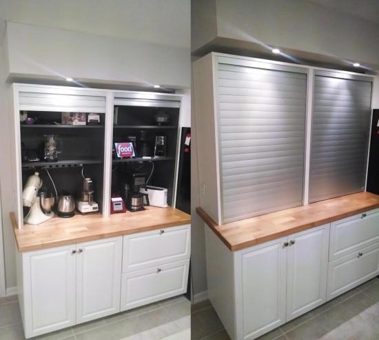 appliance garage ikea hack kitchen galant roll-front cabinet
