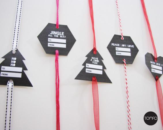 black adn white free printable gift tags Tomfo