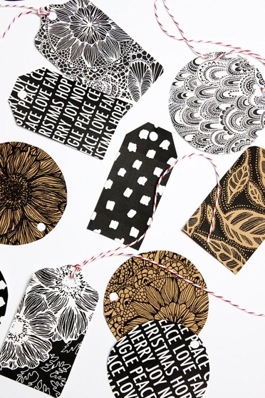 free printable Christmas gift tags Alisa Burke