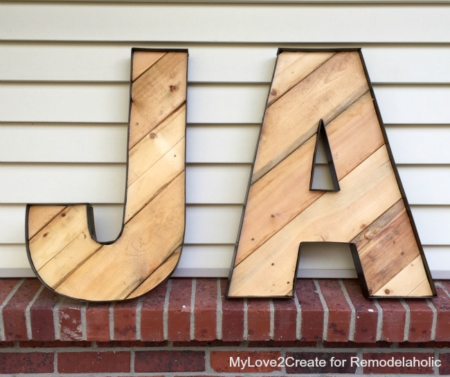 DIY rustic industrial letters -- so much easier to make than it looks like! These were practically FREE
