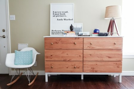 ikea tarva dresser hack 6-drawer paint stain combo