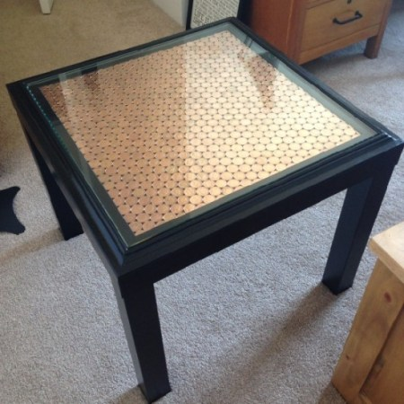 lack side table hack penny topped