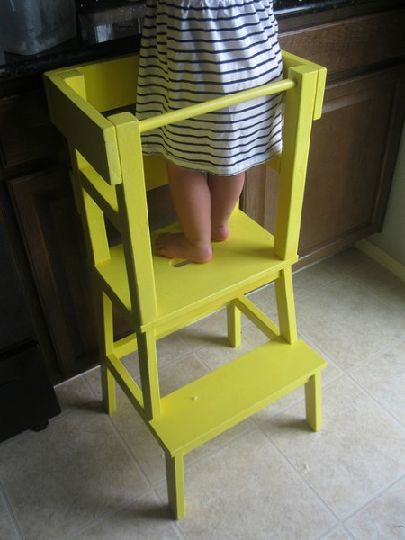 learning tower to help kids safely help in the kitchen, ikea hack stool bekvam