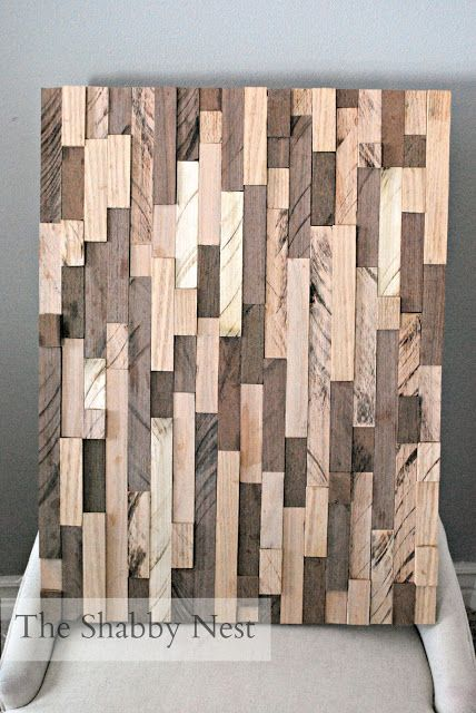 pottery barn woodwork art DIY