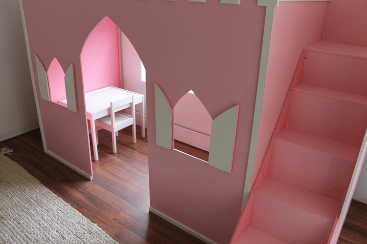 sneakers for cheap 650c6 f7935 Remodelaholic   How to Build a Princess Castle Loft Bed