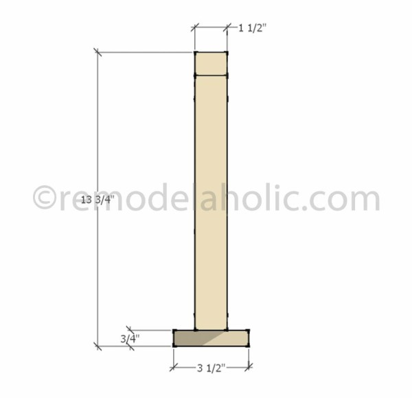 side view dimensions Christmas Decor Triangle Tree