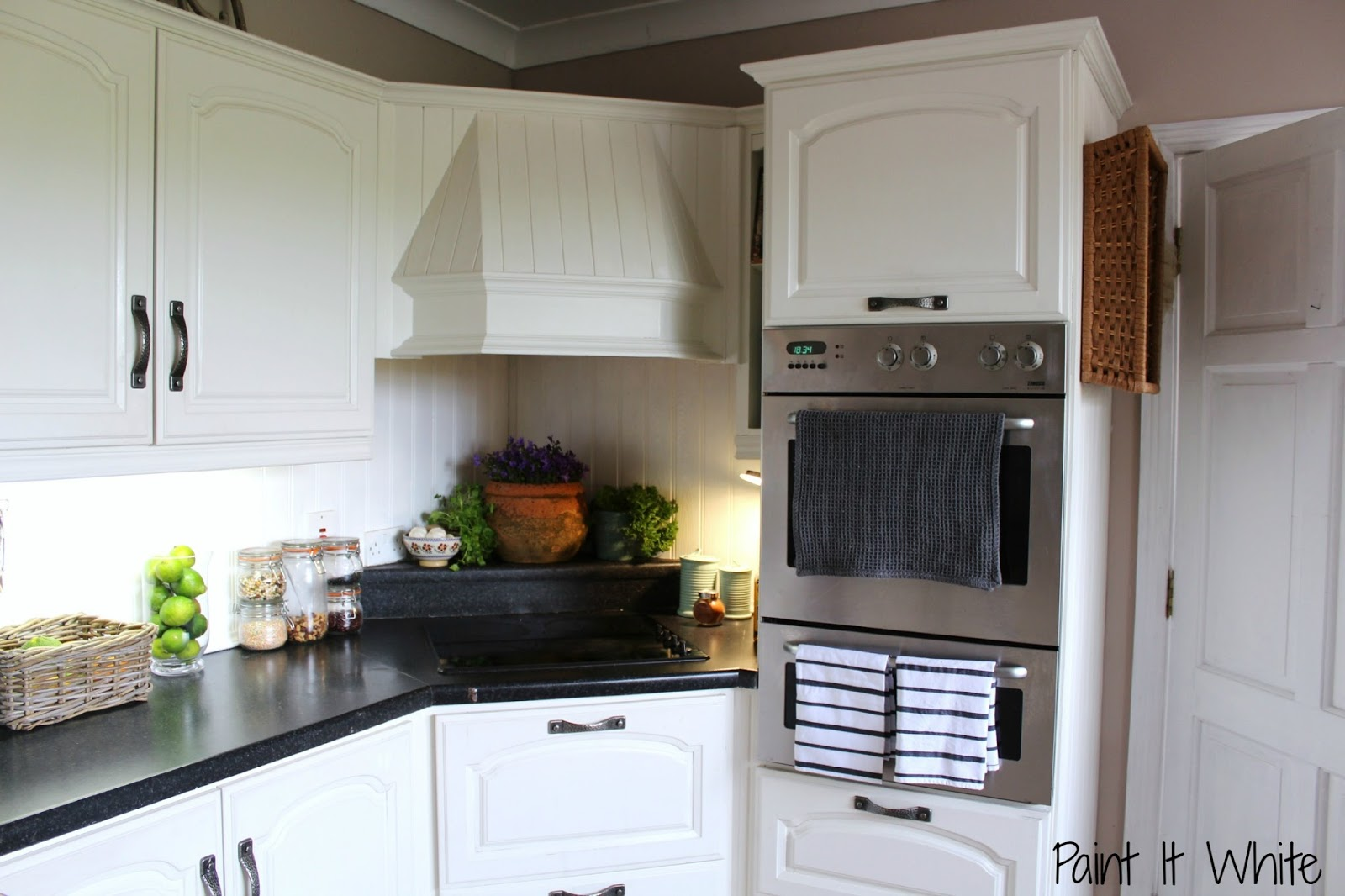 Remodelaholic | Beautiful White Kitchen Update (with chalk ...