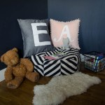 DIY Hand Lettered Stripflock (fuzzy!) Throw Pillows