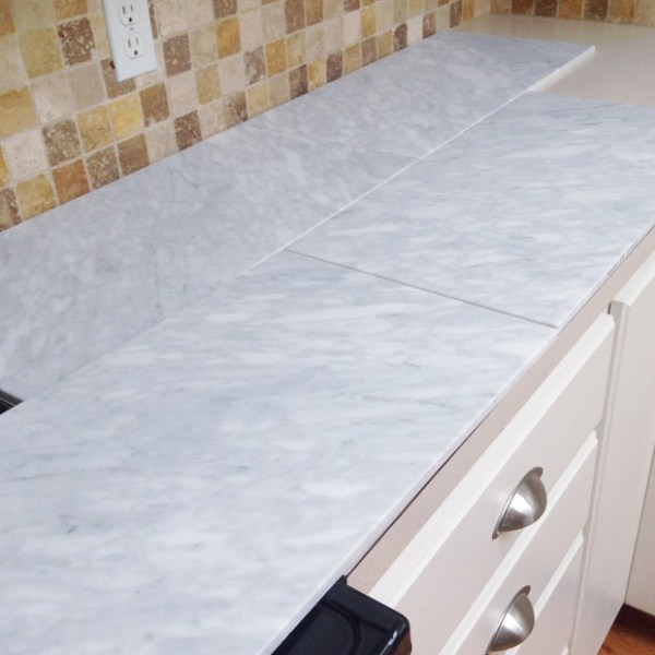extra large marble tiles for a carrera marble countertop