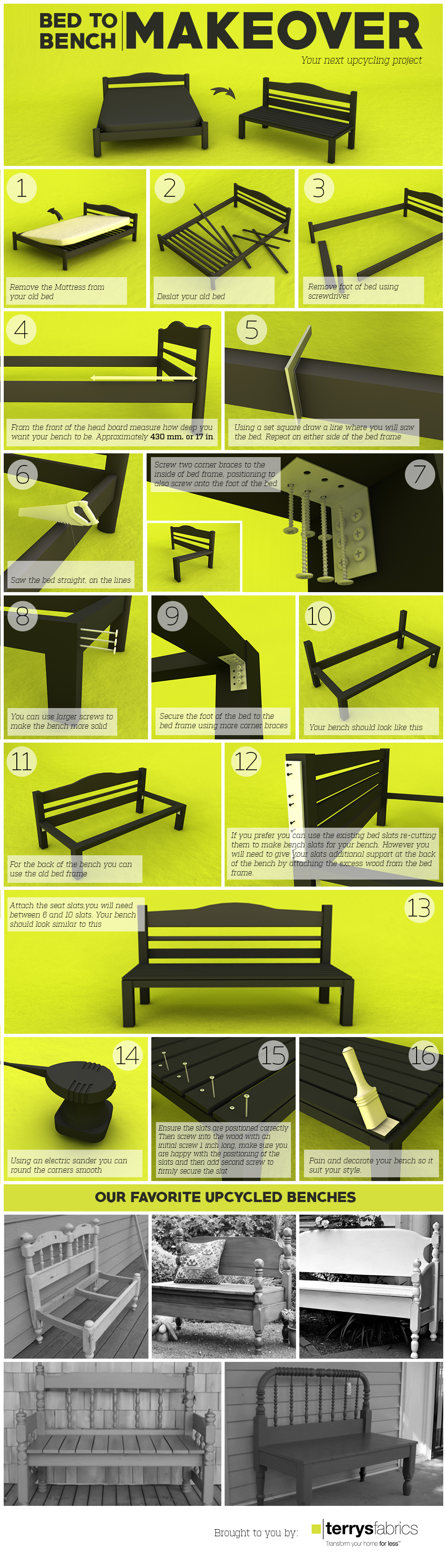 DIY Headboard Bench How-to