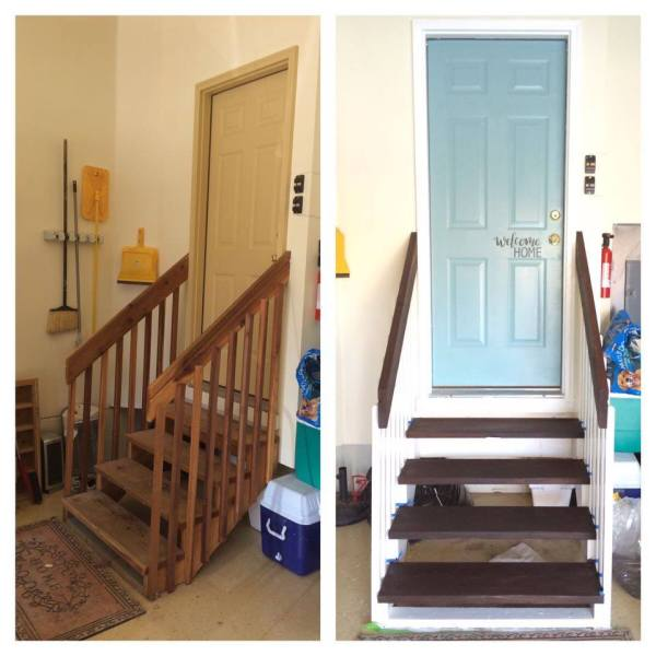 garage entry makeover by Kara