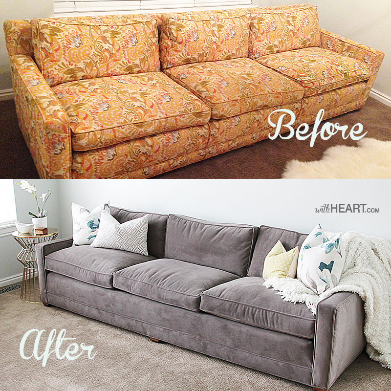Fantastic Remodelaholic 28 Ways To Bring New Life To An Old Sofa Unemploymentrelief Wooden Chair Designs For Living Room Unemploymentrelieforg