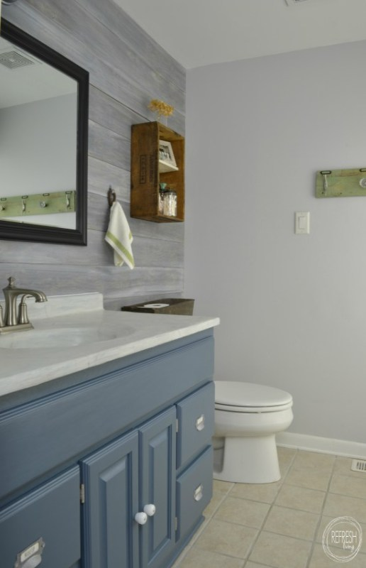 vintage rustic industrial bathroom makeover Refresh Living
