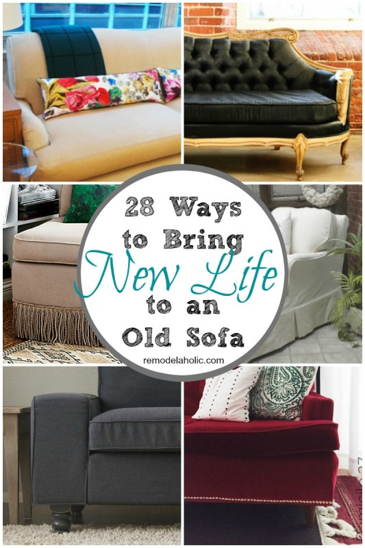 ways to bring new life to an old sofa