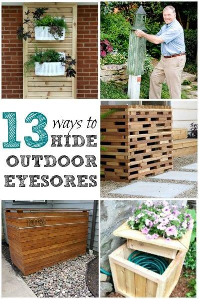 ways to hide outdoor eyesores