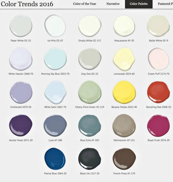 Benjamin Moore 2016 Color Forecast