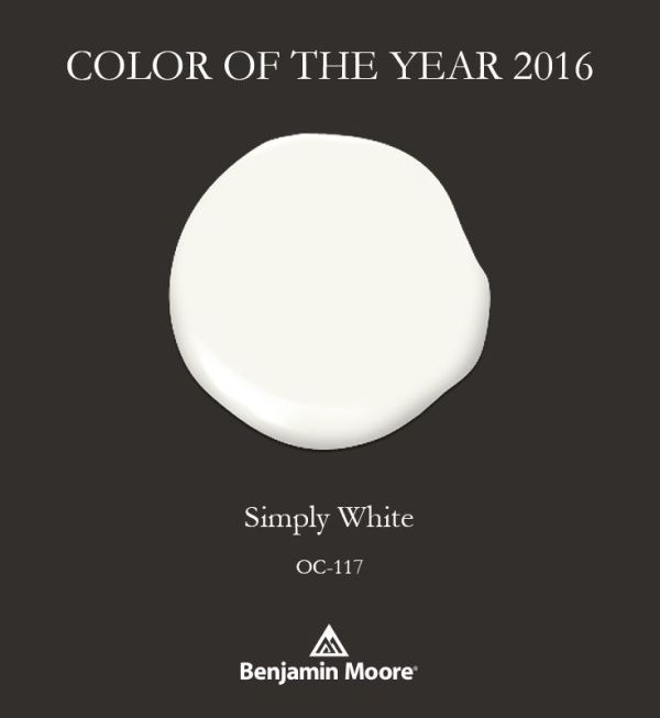 Simply White by Benjamin Moore. Trends in paint colors. Remodelaholic