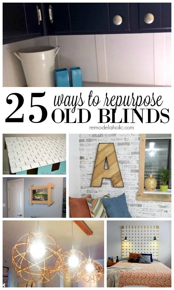 Remodelaholic 25 Ways To Repurpose Old Blinds
