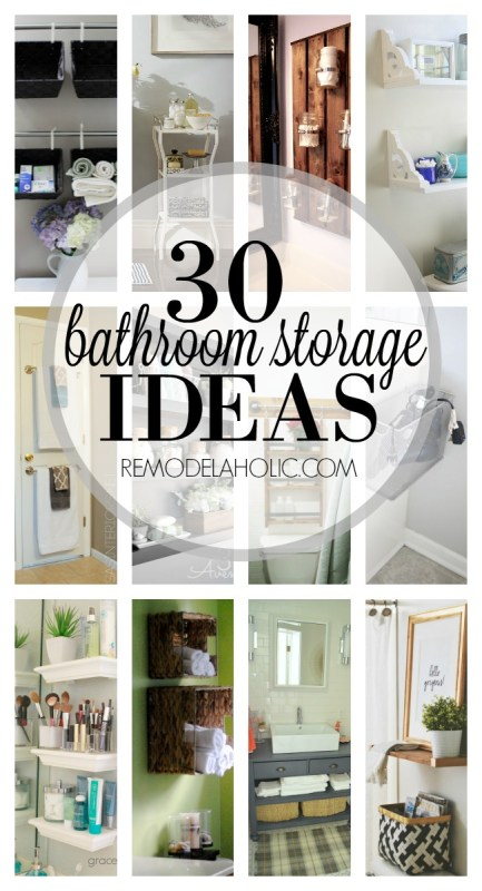 30 Bathroom Storage Ideas via Remodelaholic.com