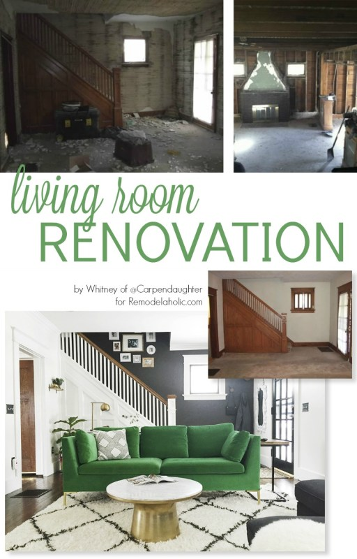 Amazing living room renovation! Great tips for making a room stand out when you renovate @Remodelaholic
