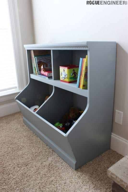 Awesome DIY toy storage shelf or cabinet Rogue Engineer