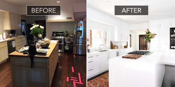 Beautiful white kitchen makeover Christina Applegate via House Beautiful