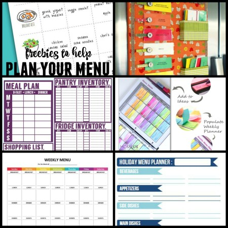 Best free menu planning printables @Remodelaholic