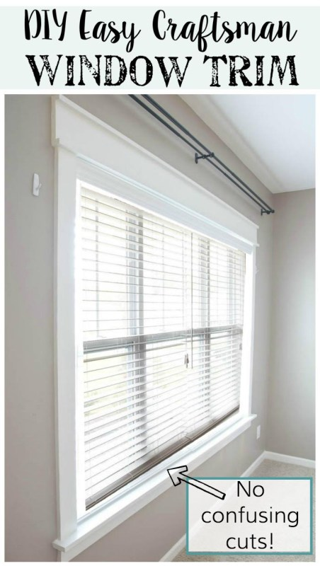 DIY Easy Craftsman Window Trim Tutorial @Remodelaholic