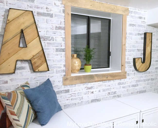 Rustic Industrial Letters in teen boys' shared room, MyLove2Create