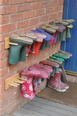 Brilliant boot storage idea!