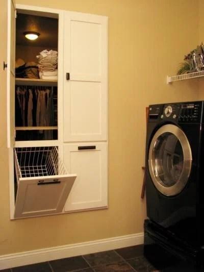 brilliant master bedroom laundry hamper solution!
