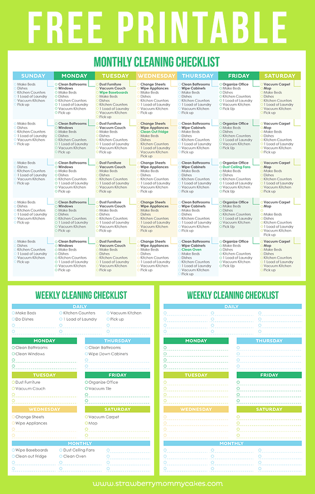 graphic about Free Printable Cleaning Schedule called Remodelaholic 36 Totally free Printable Organizers for a Residence