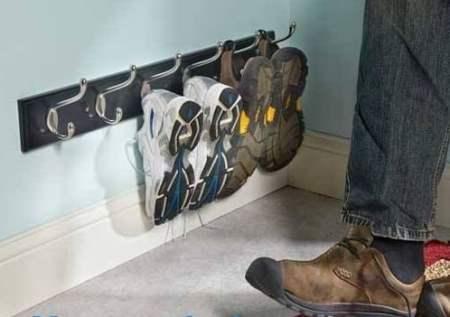 coat hooks shoe racks