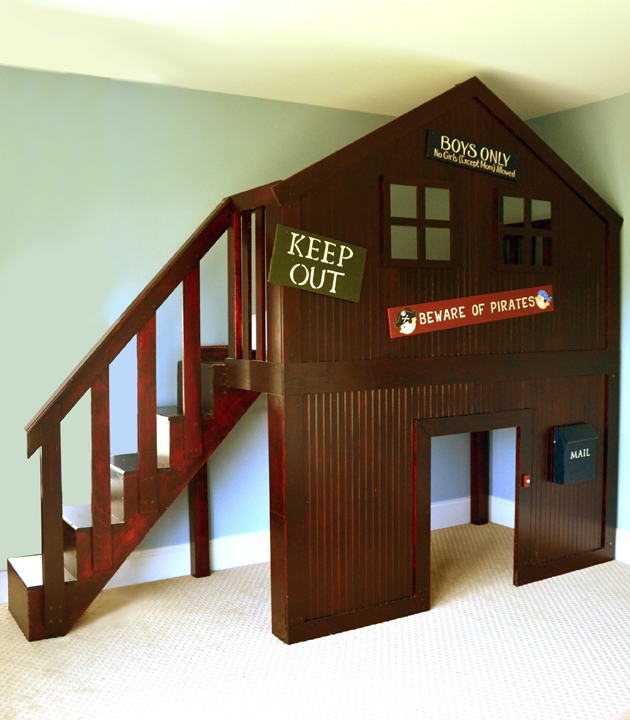 Pirate Fort Clubhouse Loft Bed Diy Kids