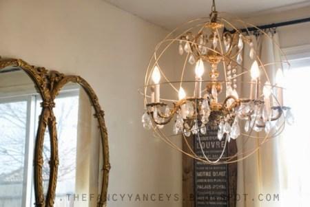 restoration hardware knockoff diy crystal orb chandelier