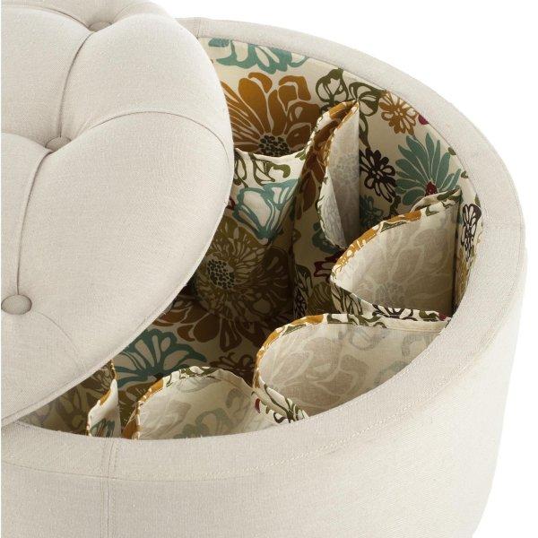 round shoe storage ottoman