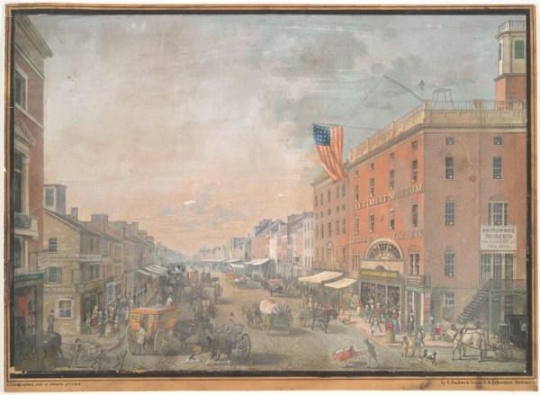 vintage print of historic Baltimore NYPL