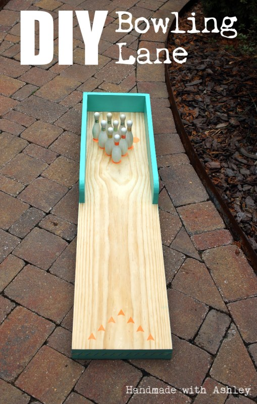 18 Homemade bowling lane for kids, indoor-outdoor use, Handmade by Ashley featured