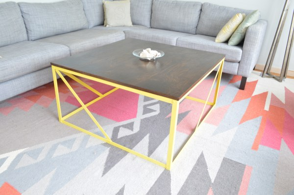 Beautiful coffee table DIY, Plaster and Disaster featured on Remodelaholic.com