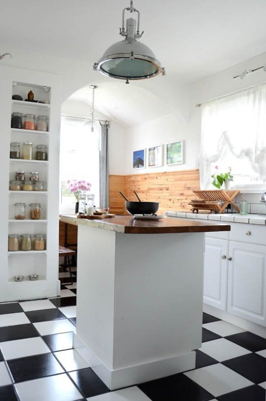 Dry Goods Recessed Kitchen Shelves
