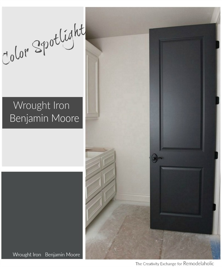 Beau Paint Color Spotlight: Benjamin Moore Wrought Iron. THIS Is The Deep  Beautiful Charcoal Gray