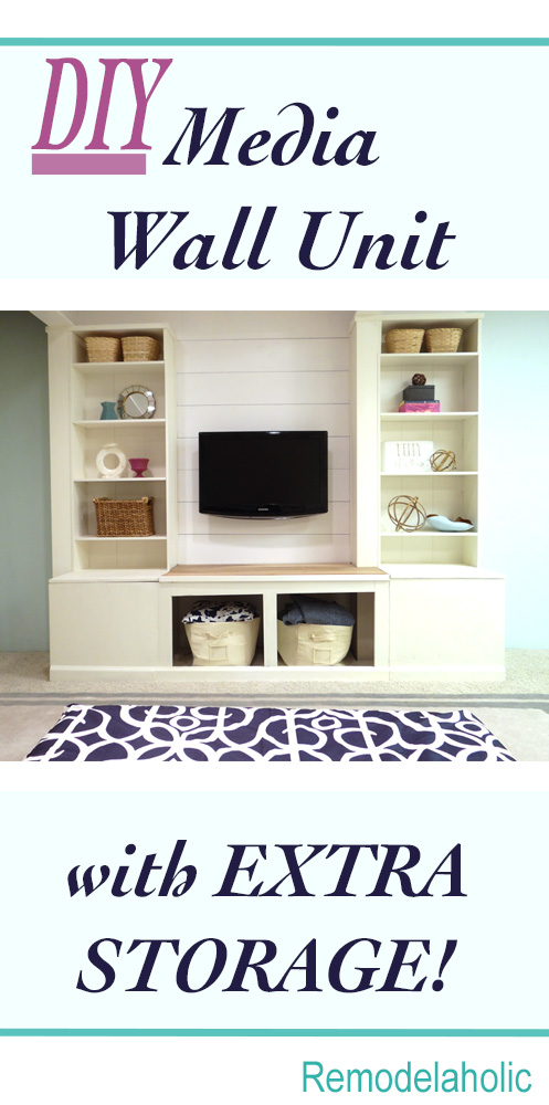DIY Media Wall Unit with Extra Storage