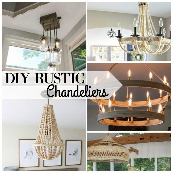 DIY Rustic Chandeliers via Remodelaholic.com