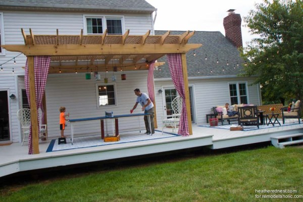 Best DIY Outdoor Wood Projects: DIY deck pergola tutorial